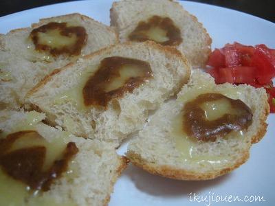 仁丹の食養生カレーで簡単食パンチーズカレーカナッペ